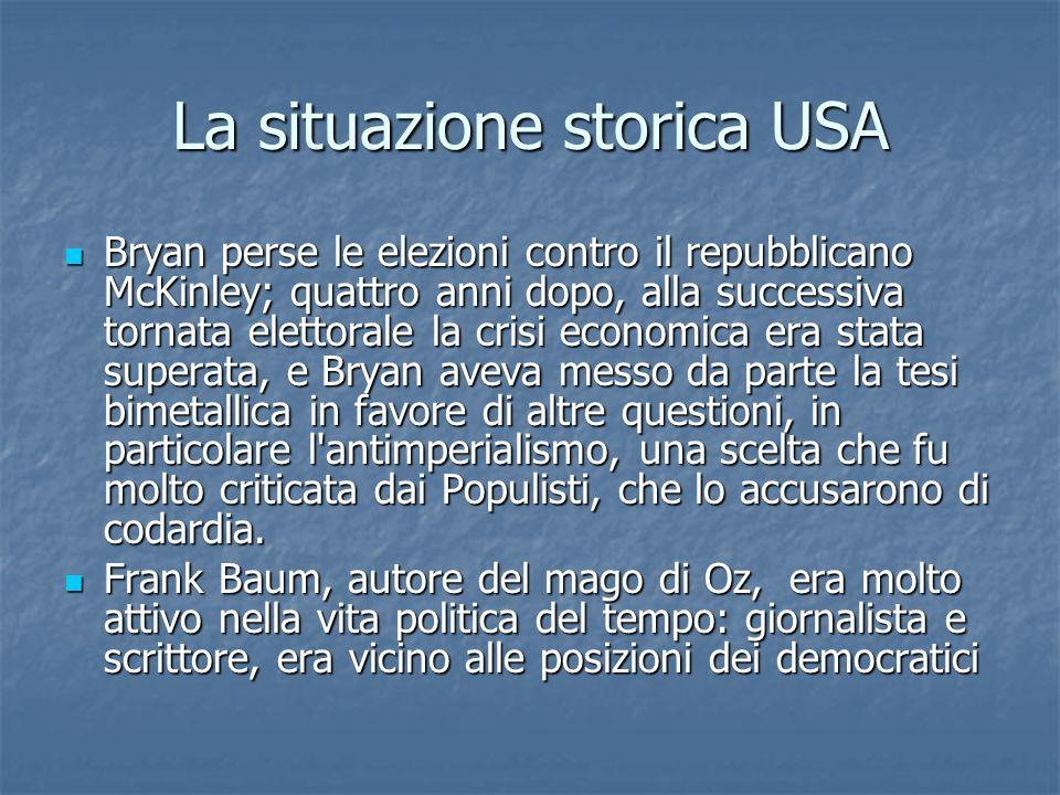 La situazione storica USA