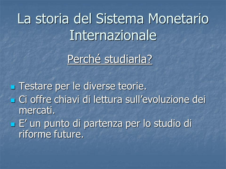 La storia del Sistema Monetario Internazionale
