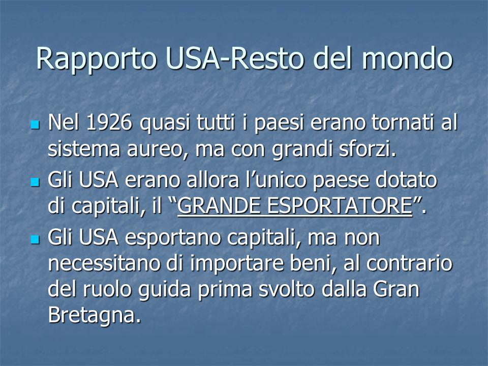 Rapporto USA-Resto del mondo