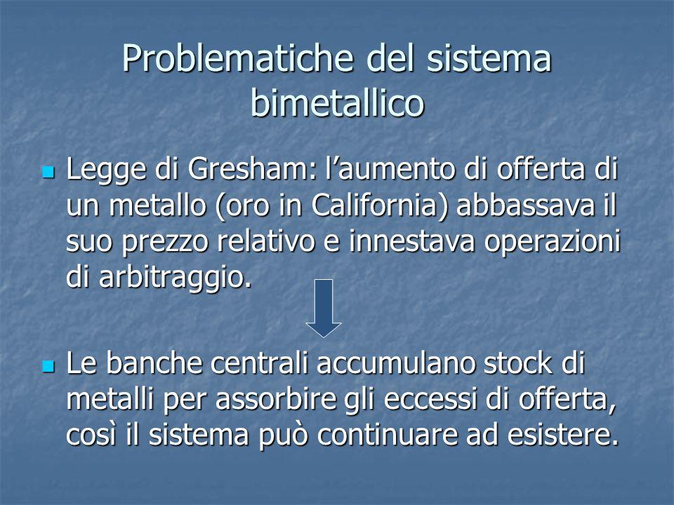 Problematiche del sistema bimetallico