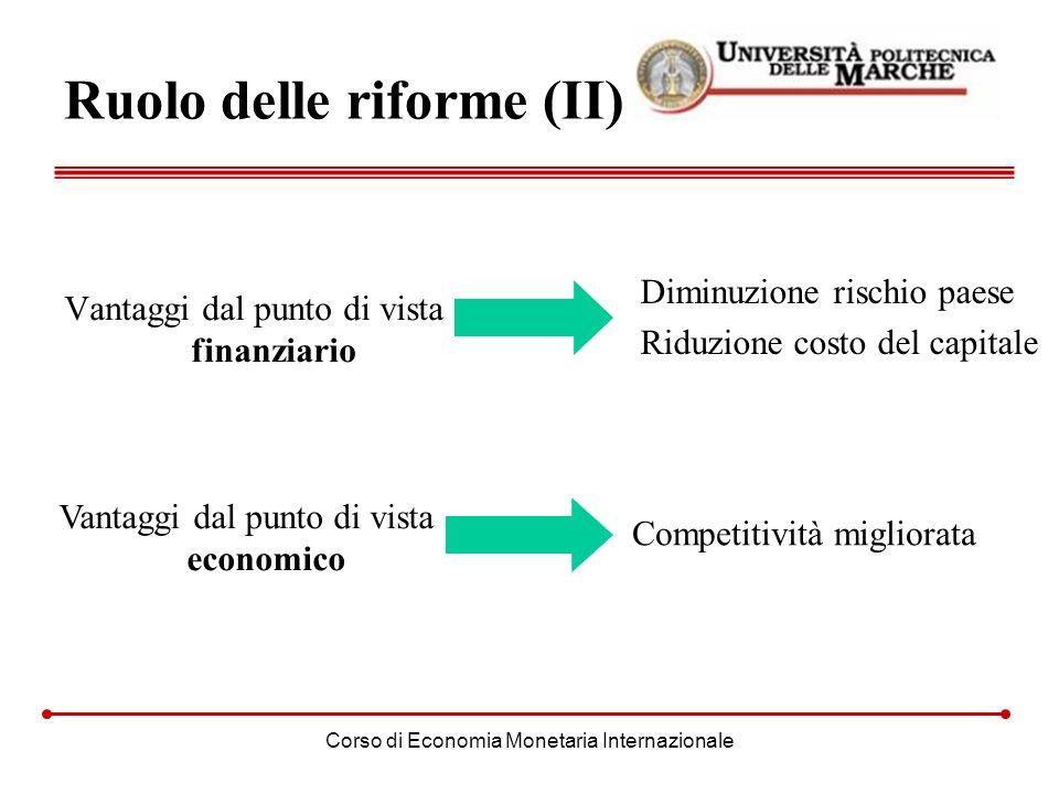 Ruolo delle riforme (II)