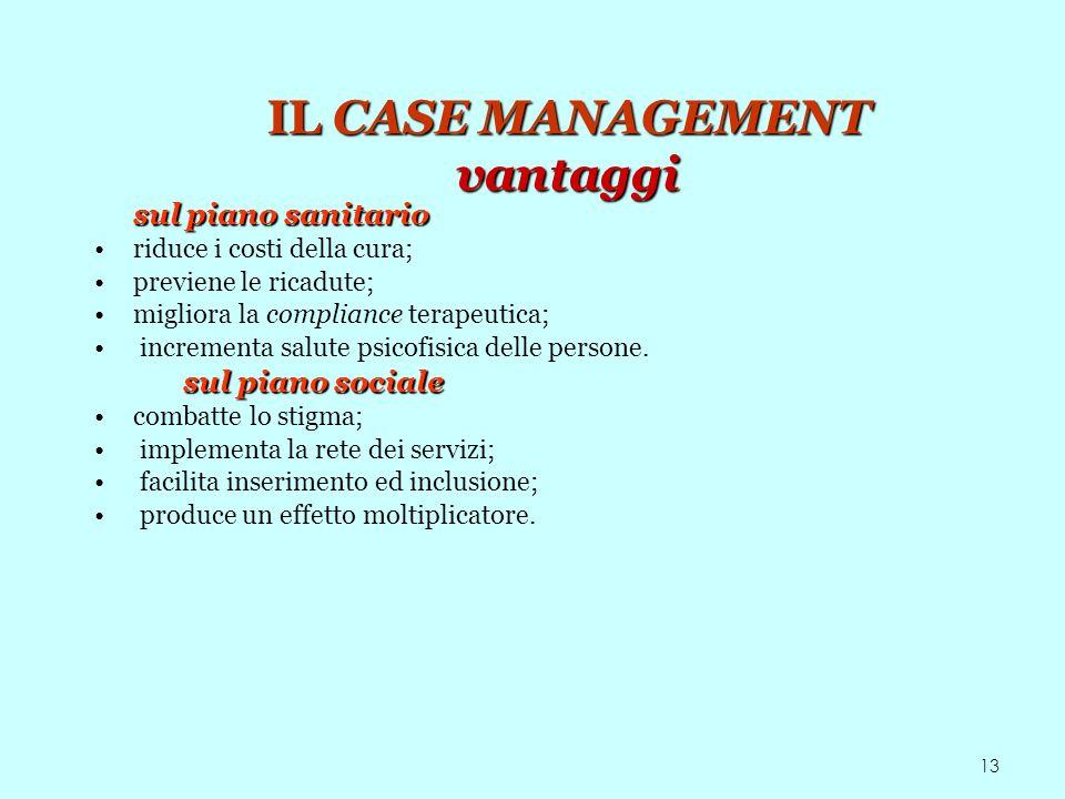 IL CASE MANAGEMENT vantaggi