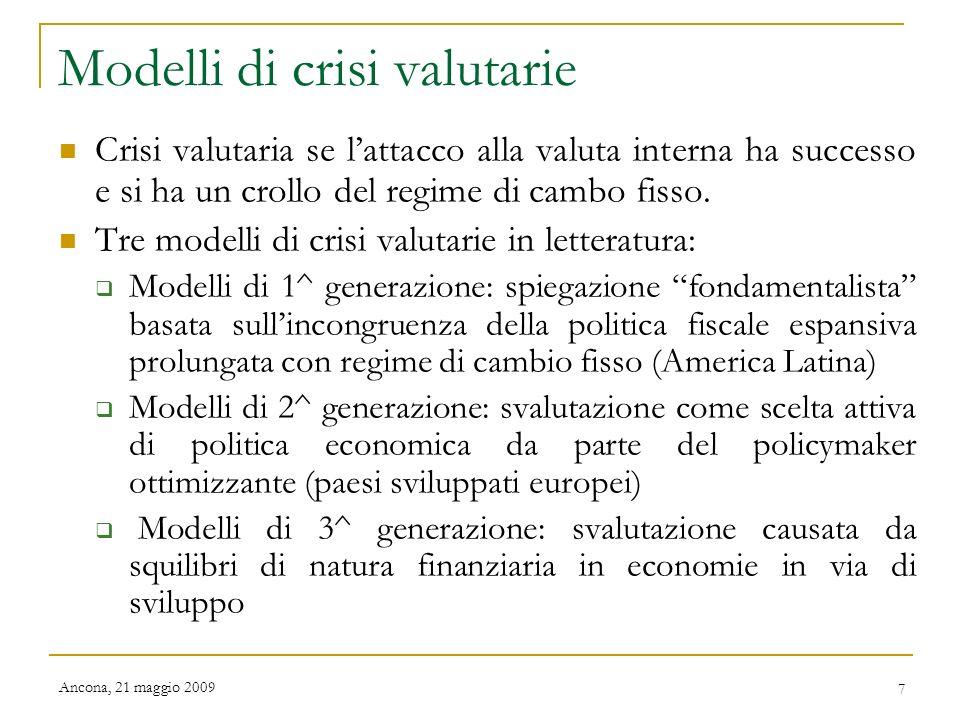 Modelli di crisi valutarie