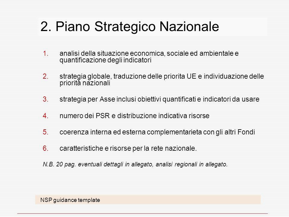 2. Piano Strategico Nazionale