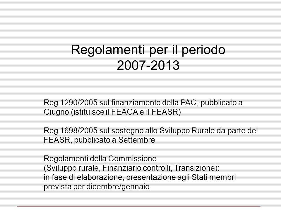 Regolamenti per il periodo 2007-2013