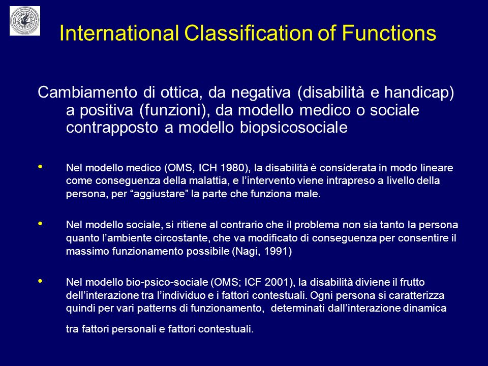 International Classification of Functions