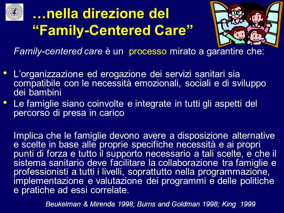 …nella direzione del Family-Centered Care