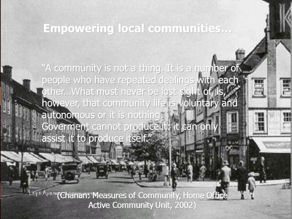 Empowering local communities…