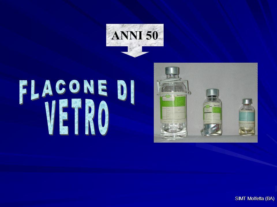 ANNI 50 FLACONE DI VETRO SIMT Molfetta (BA)