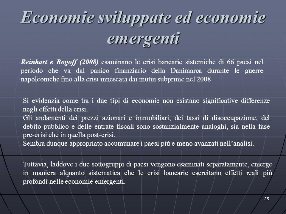 Economie sviluppate ed economie emergenti