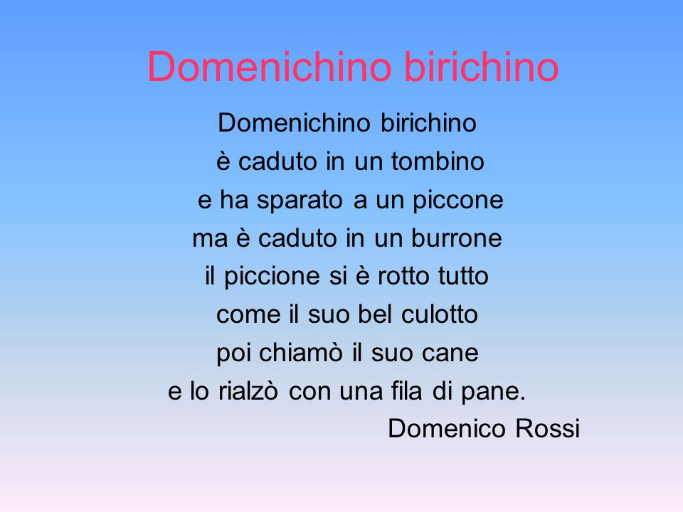 Domenichino birichino