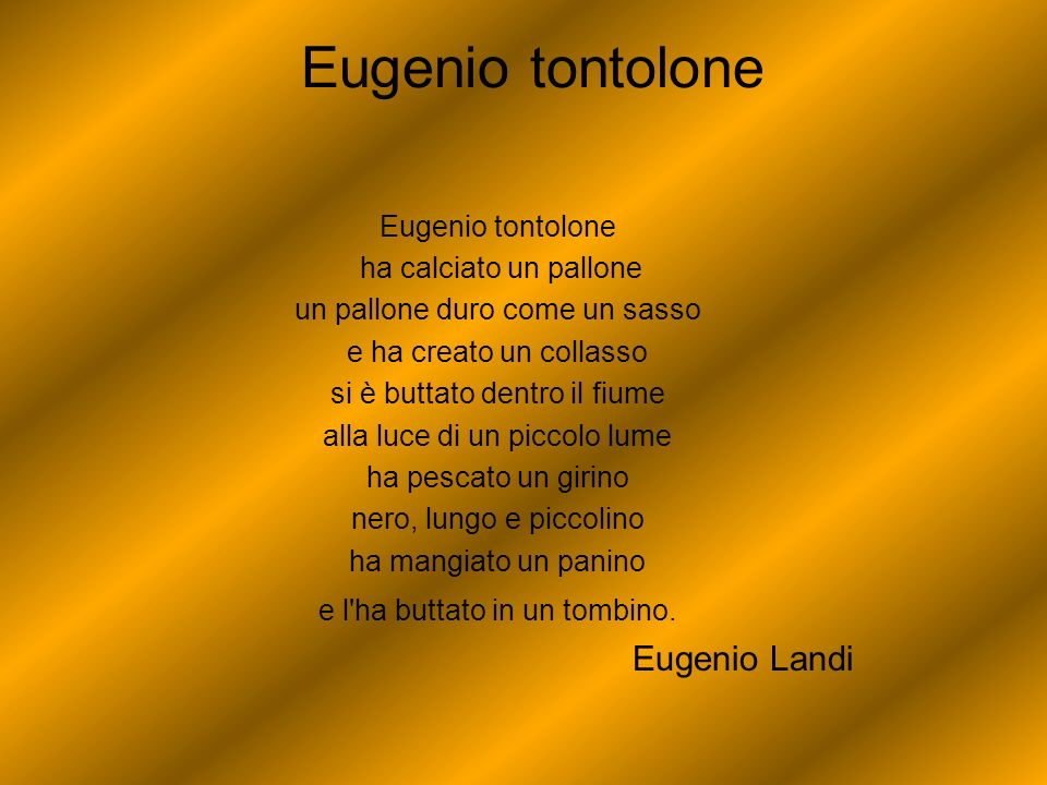 Eugenio tontolone Eugenio Landi Eugenio tontolone