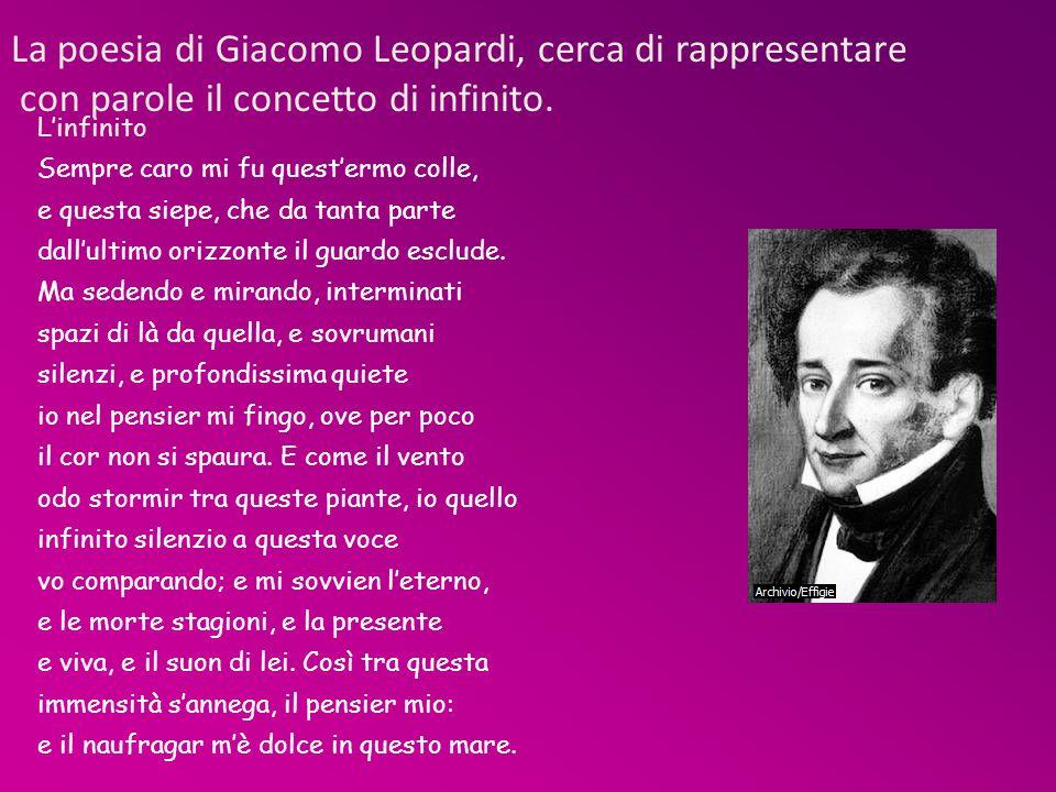 La poesia di Giacomo Leopardi, cerca di rappresentare