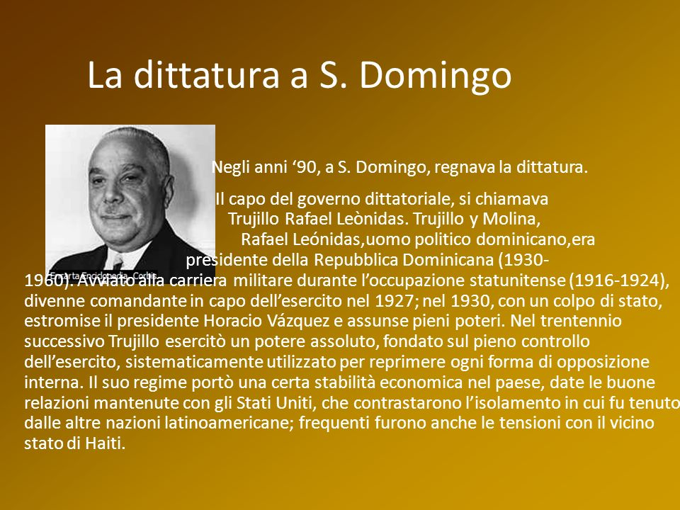 La dittatura a S. Domingo