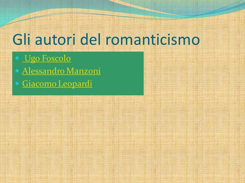 Gli autori del romanticismo