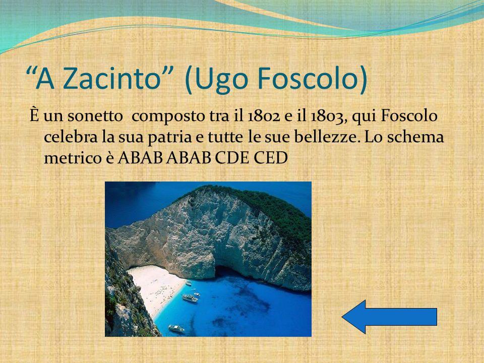 A Zacinto (Ugo Foscolo)