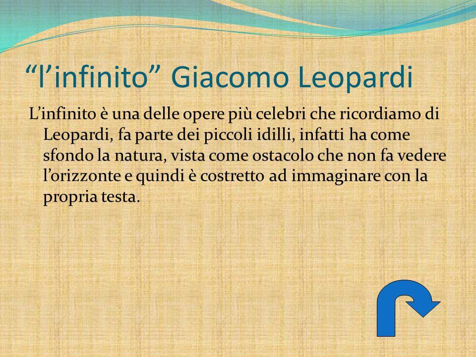 l'infinito Giacomo Leopardi