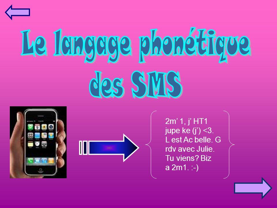 Le langage phonétique des SMS