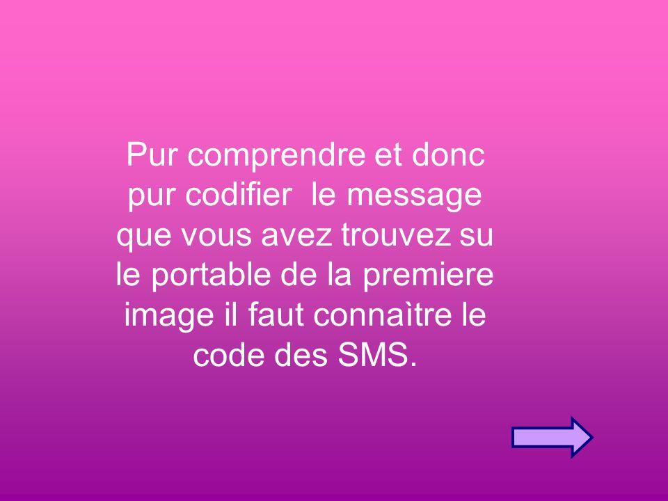 Pur comprendre et donc pur codifier le message que vous avez trouvez su le portable de la premiere image il faut connaìtre le code des SMS.