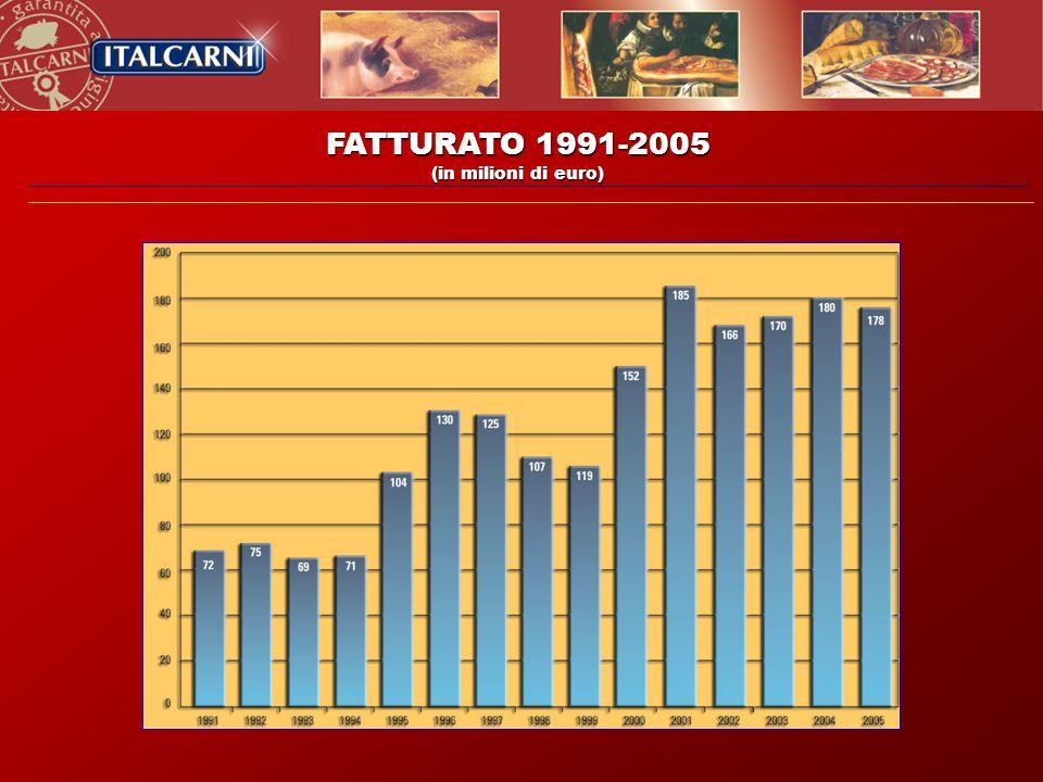 FATTURATO 1991-2005 (in milioni di euro)
