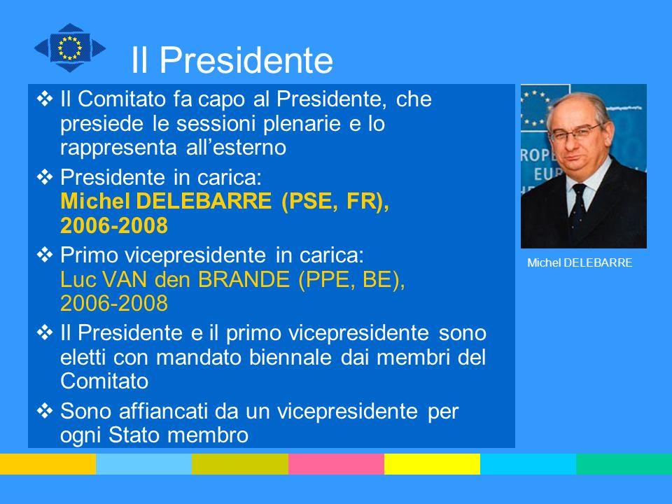 Il Presidente Il Comitato fa capo al Presidente, che presiede le sessioni plenarie e lo rappresenta all'esterno.