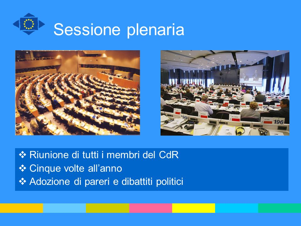 Sessione plenaria Riunione di tutti i membri del CdR