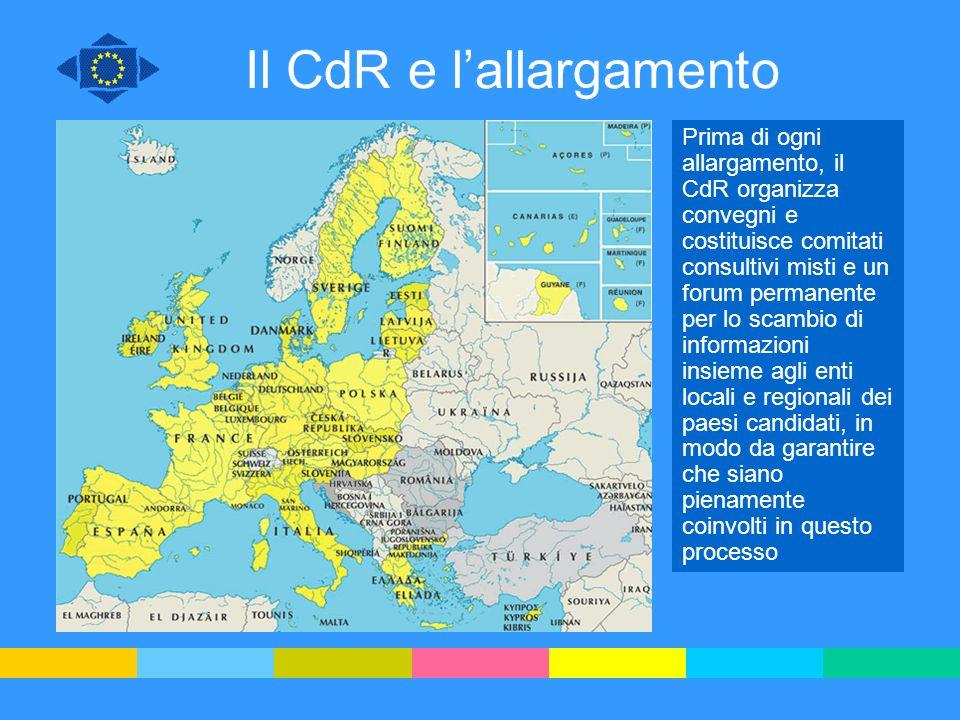 Il CdR e l'allargamento