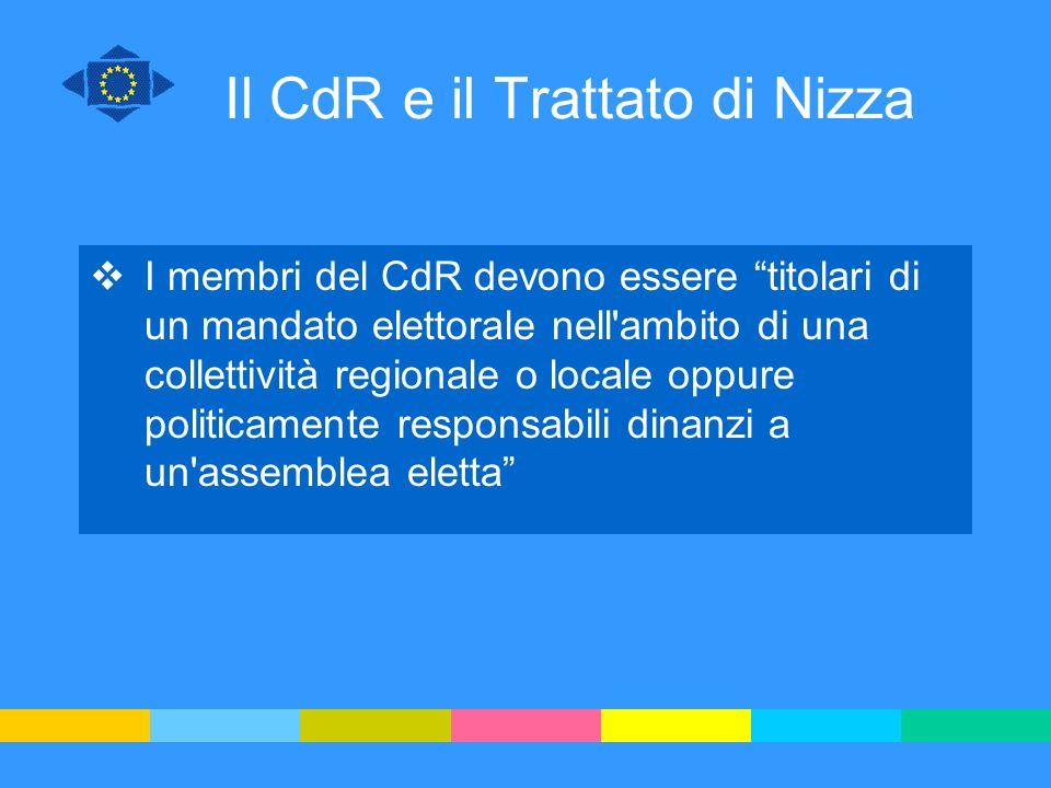 Il CdR e il Trattato di Nizza