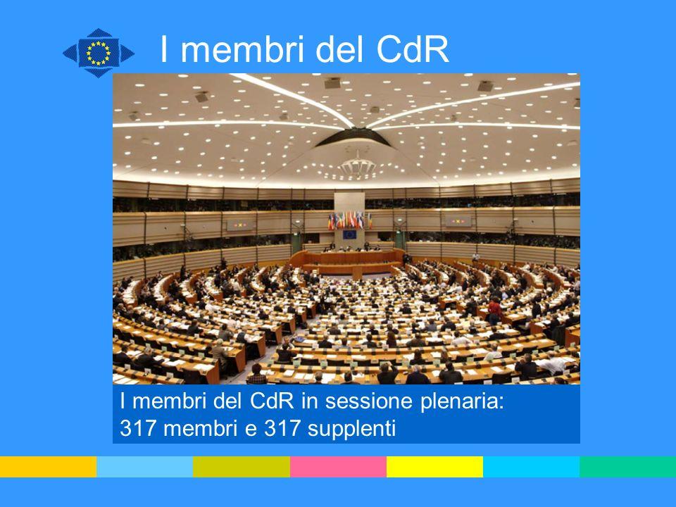 I membri del CdR I membri del CdR in sessione plenaria: