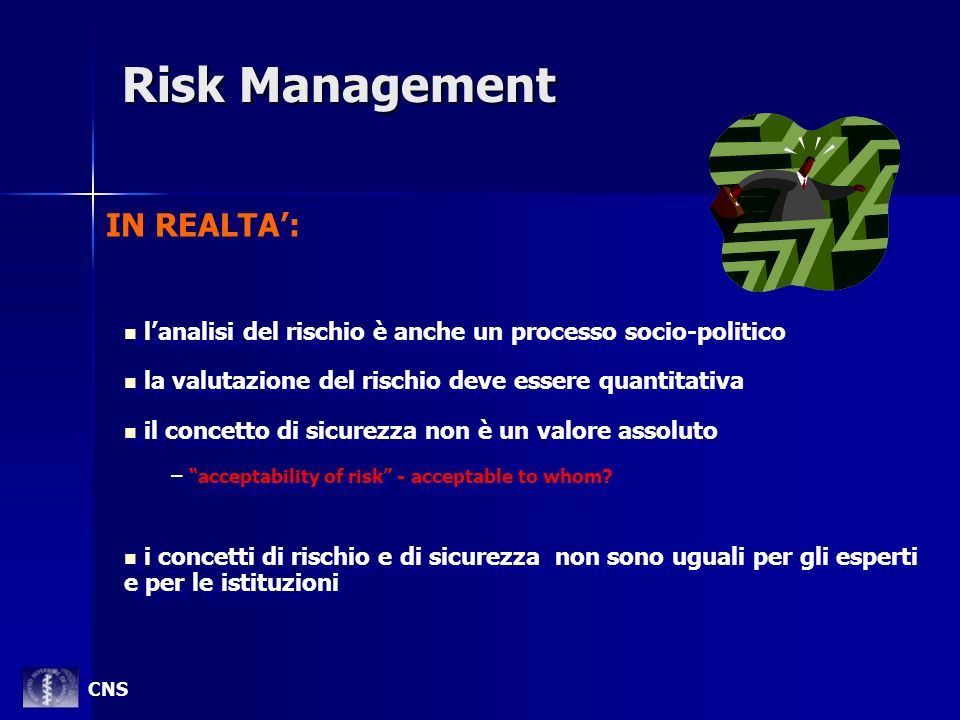 Risk Management IN REALTA':
