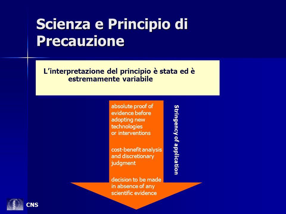 Scienza e Principio di Precauzione