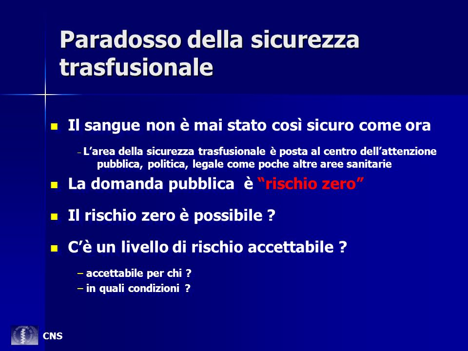 Paradosso della sicurezza trasfusionale
