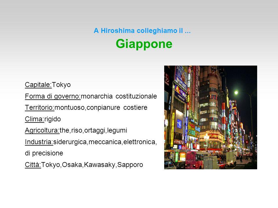 A Hiroshima colleghiamo il ... Giappone