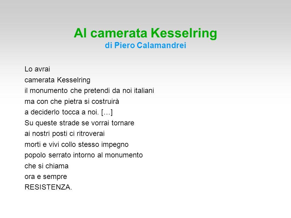 Al camerata Kesselring di Piero Calamandrei