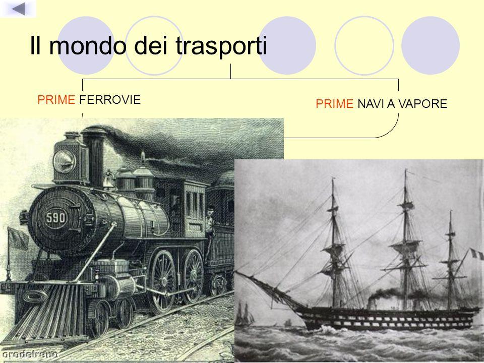 Il mondo dei trasporti PRIME FERROVIE PRIME NAVI A VAPORE