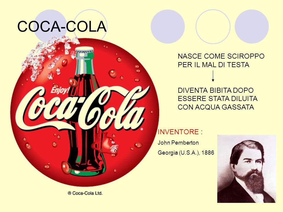 COCA-COLA NASCE COME SCIROPPO PER IL MAL DI TESTA