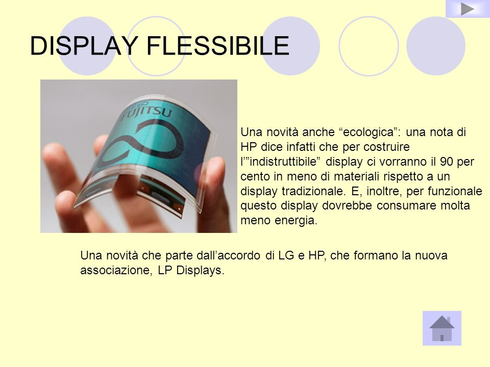 DISPLAY FLESSIBILE