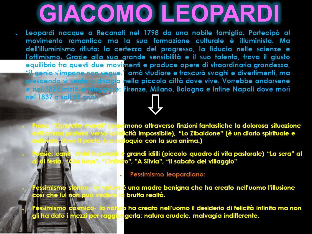 Pessimismo leopardiano: