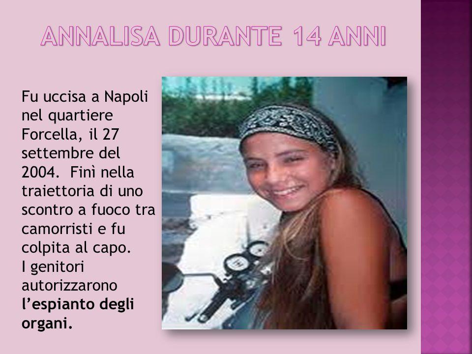 ANNALISA DURANTE 14 ANNI
