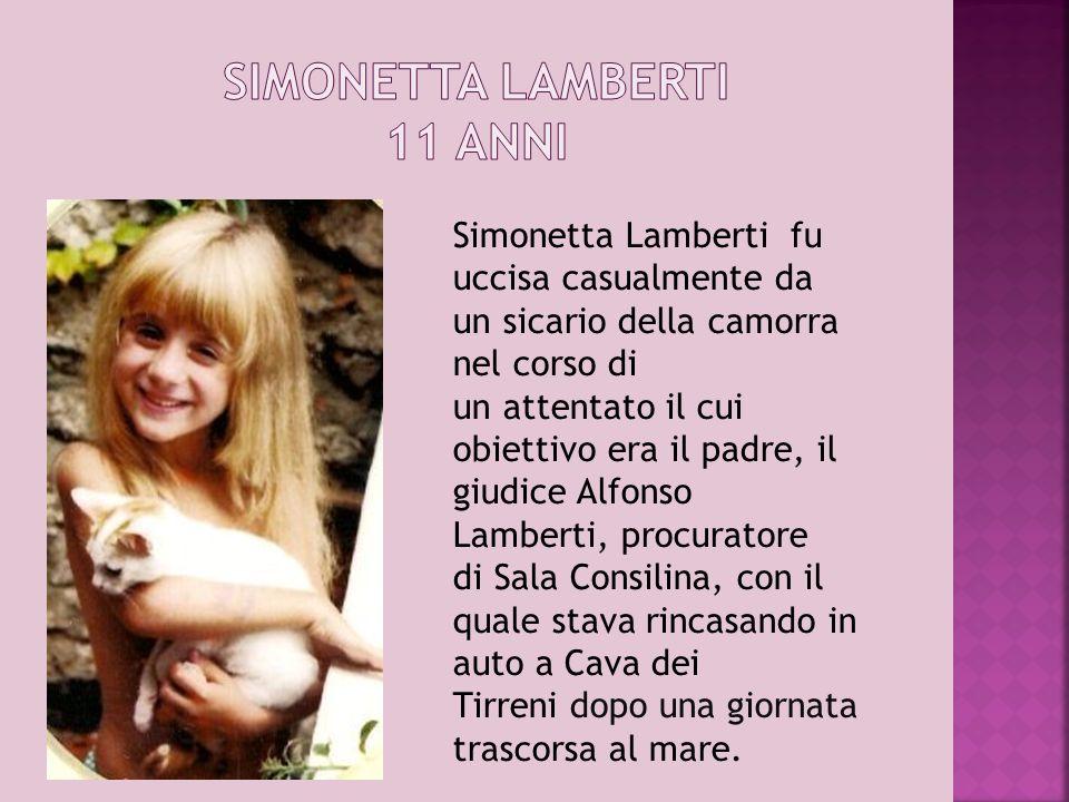 SIMONETTA LAMBERTI 11 ANNI