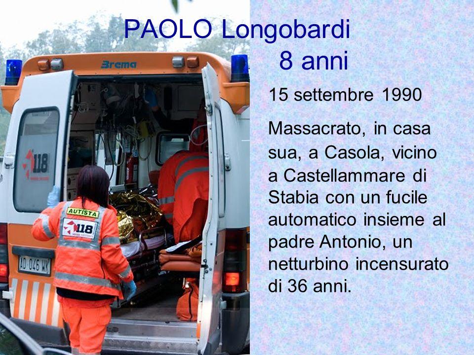 PAOLO Longobardi 8 anni 15 settembre 1990