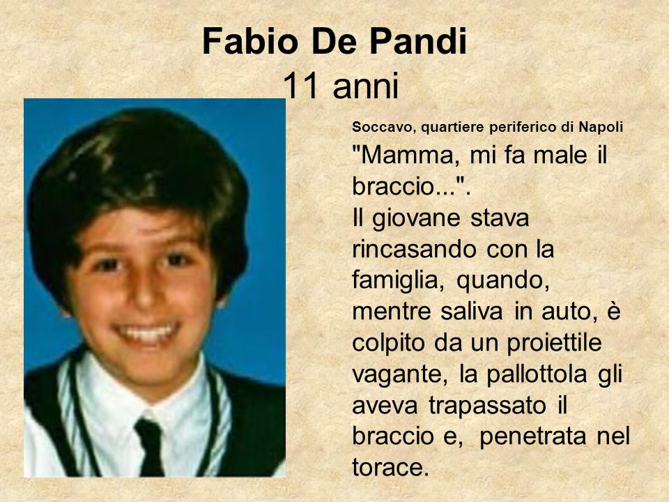 Fabio De Pandi 11 anni