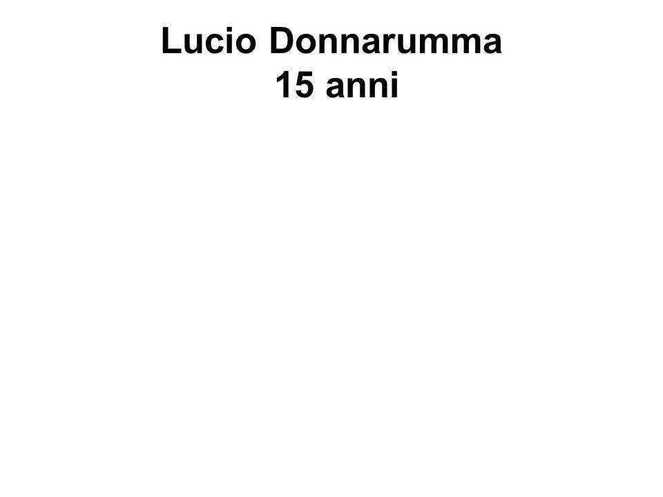 Lucio Donnarumma 15 anni