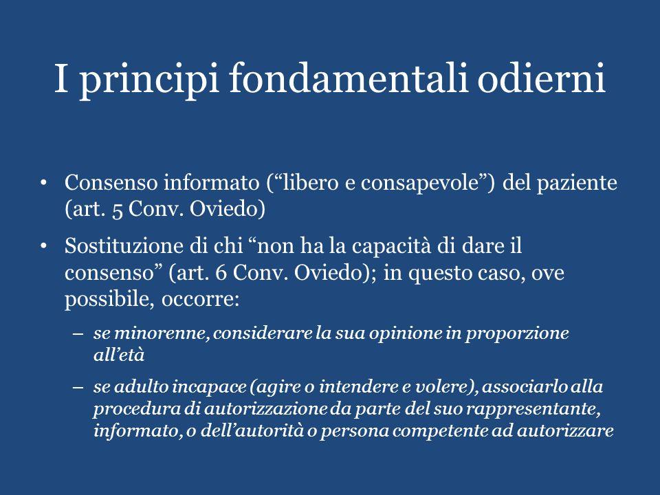 I principi fondamentali odierni