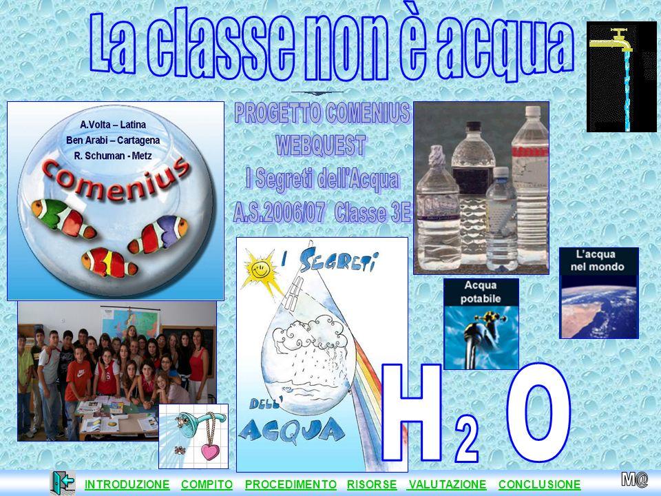 La classe non è acqua H O 2 PROGETTO COMENIUS WEBQUEST