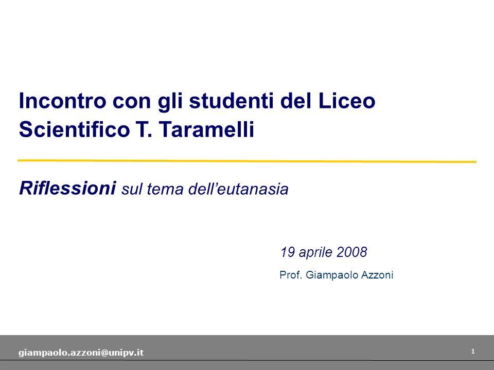 Incontro con gli studenti del Liceo Scientifico T. Taramelli