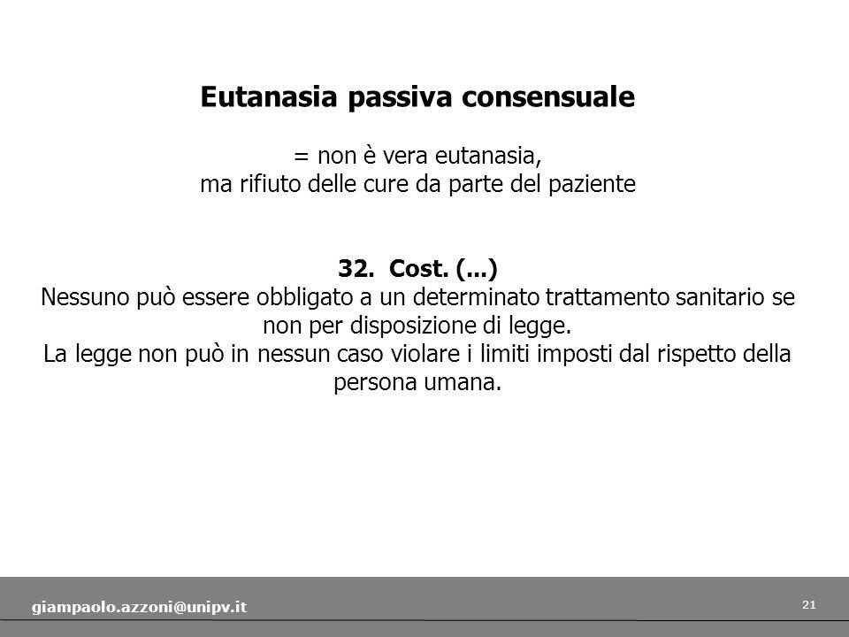 Eutanasia passiva consensuale