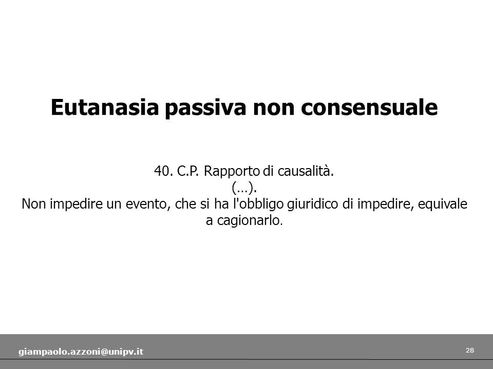 Eutanasia passiva non consensuale