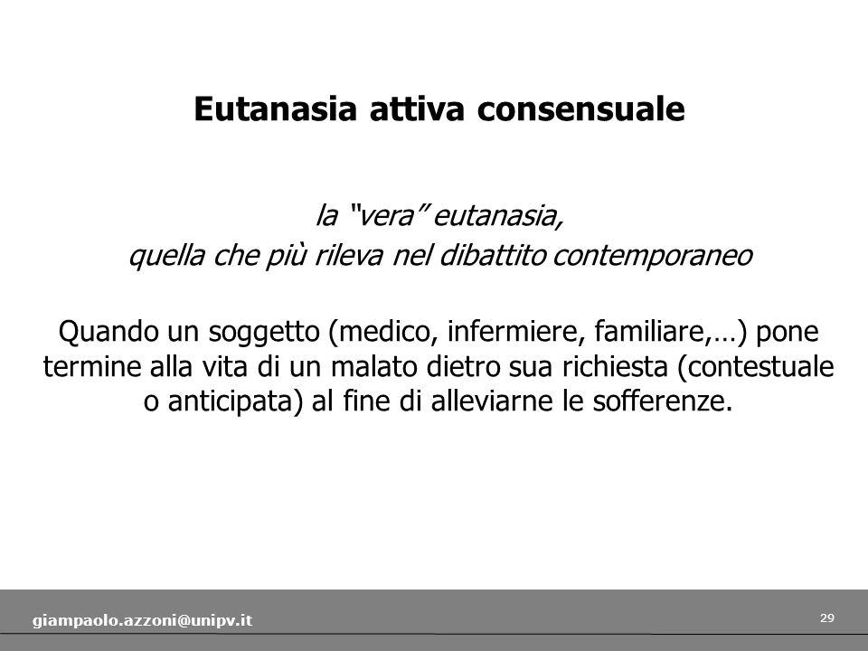 Eutanasia attiva consensuale