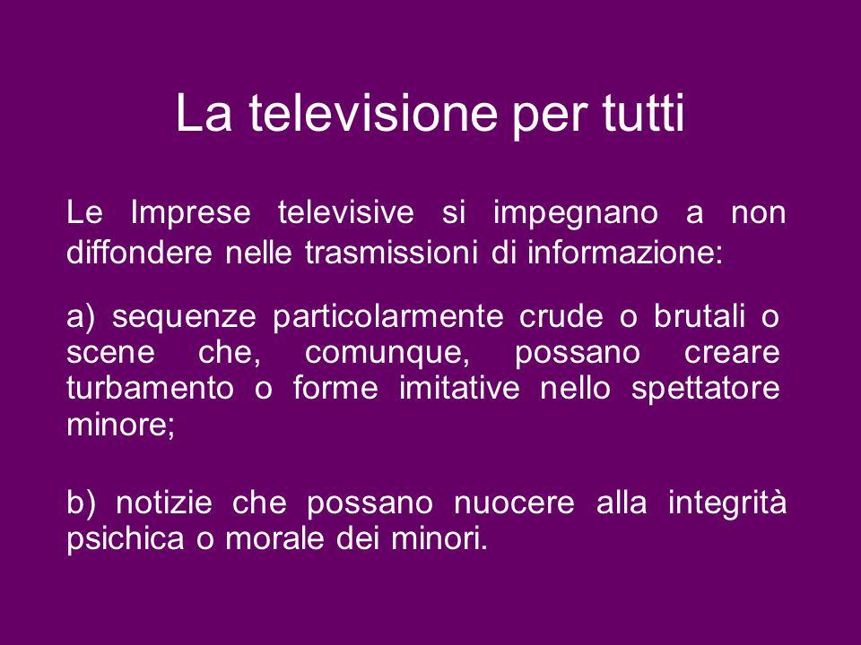 La televisione per tutti